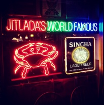 crabs, beer, and spiciness.